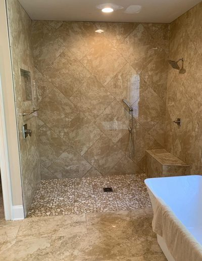Level Access Shower Remodel