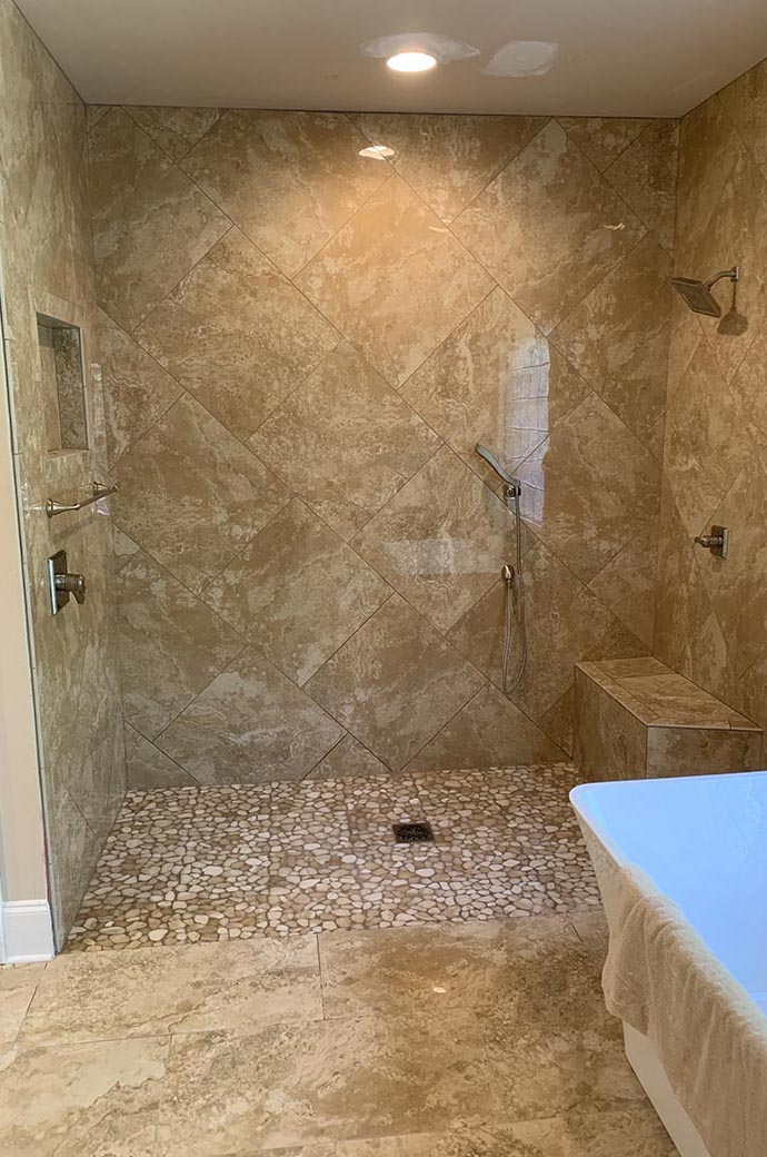 Level Entry Shower Remodel